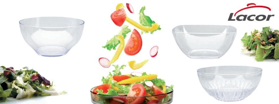Que no falte una ensaladera acrílica de Lacor en tu mesa