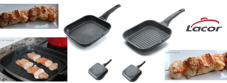 Cocina sana con la sartén grill Eco Piedra de Lacor