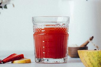 Jus de papaye, fraises et baobab3