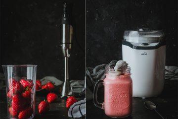 Yogurt casero de fresas