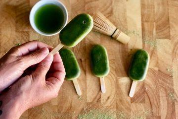Helado verde