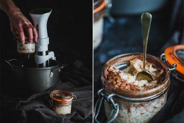 Cruffin de canela y coco