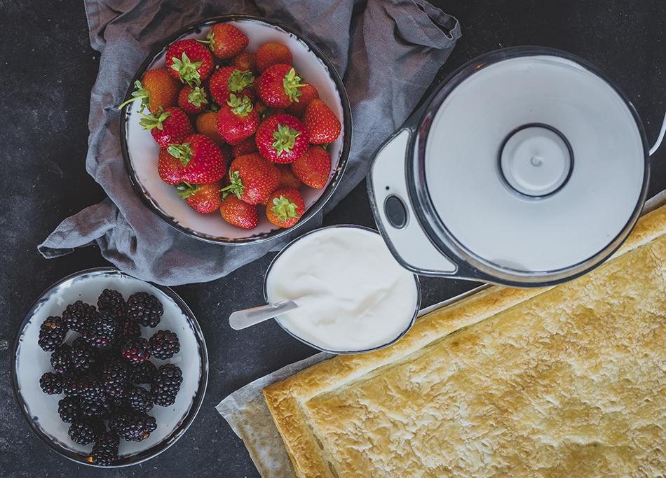 Tartaleta de Yogur y frutos rojos